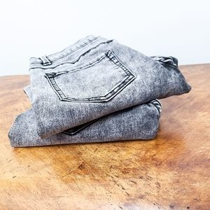 Two Pairs of Acid Washed Skinny Jeans Kids Size 18